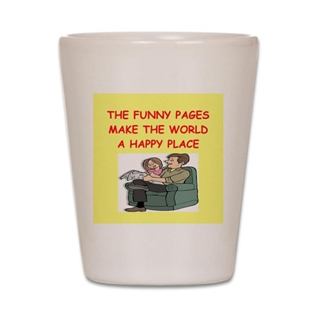 the funny pages Shot Glass