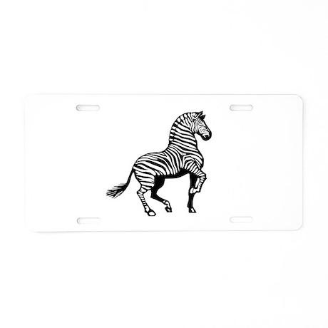 Zebra Symbol Aluminum License Plate