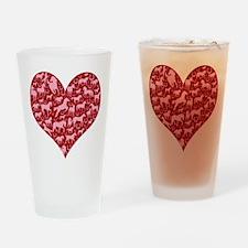 Horsey Heart Drinking Glass