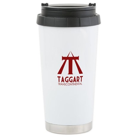 Taggart Transcontinental Red Stainless Steel Trave