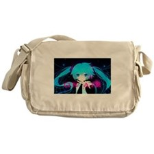 manga girl Messenger Bag