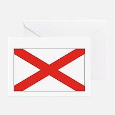 Alabama State Flag Greeting Cards (6)