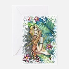 Colorful Mermaid Greeting Card