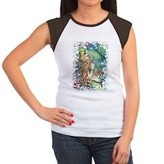 Colorful Mermaid Women's Cap Sleeve T-Shirt