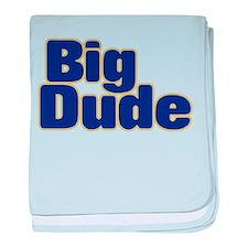 BIG DUDE (dark blue) baby blanket