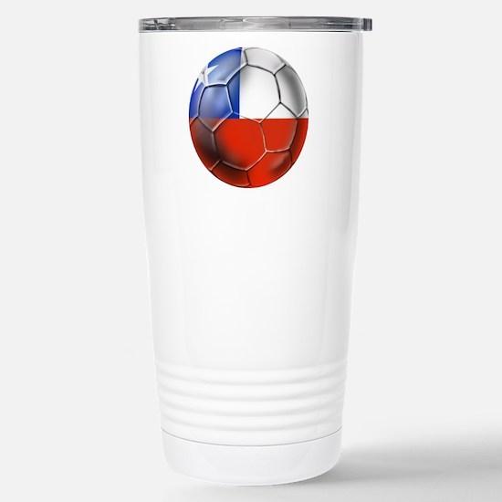 Chile Soccer Futbol Stainless Steel Travel Mug