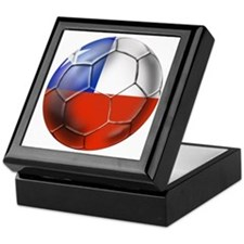 Chile Soccer Futbol Keepsake Box