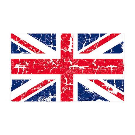 UK Flag Distressed 38.5 x 24.5 Wall Peel