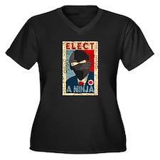 Elect A Ninja, Funny Plus Size V-Neck Tee