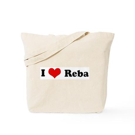 I Love Reba Tote Bag