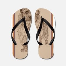 Norfolk Terrier Flip Flops
