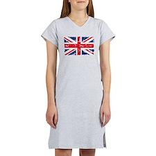 UK Flag Distressed Women's Nightshirt