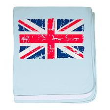 UK Flag Distressed baby blanket