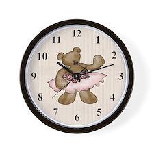 Ballerina Bear Wall Clock