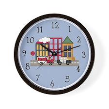 Emergency Vehicles Wall Clock
