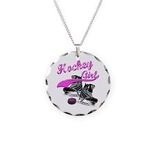 Cute Hockey Necklace Circle Charm