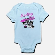 Funny Peace love hockey womens Infant Bodysuit