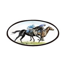 Horse race watercolor Patches