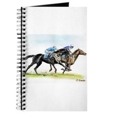 Horse race watercolor Journal