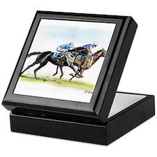 Horse race watercolor Keepsake Box