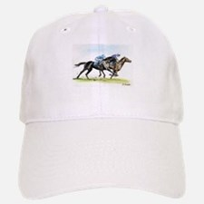 Horse race watercolor Baseball Baseball Cap