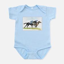 Horse race watercolor Infant Bodysuit