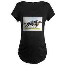 Horse race watercolor T-Shirt