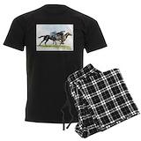 Horse racing Men's Dark Pajamas