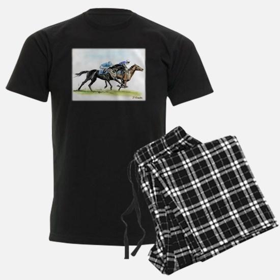 Horse race watercolor Pajamas