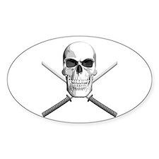 Samurai Skull Decal