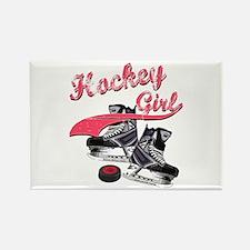 Funny Girls hockey Rectangle Magnet