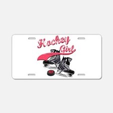 Unique Girls hockey Aluminum License Plate