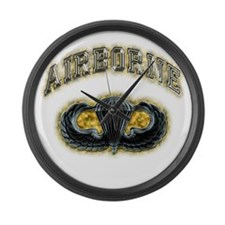 US Army Airborne Wings Large Wall Clock