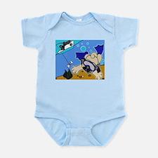 Pug Summer Fun Infant Creeper