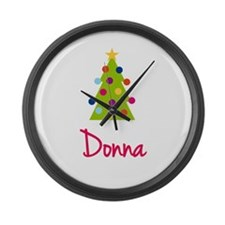 Christmas Tree Donna Large Wall Clock