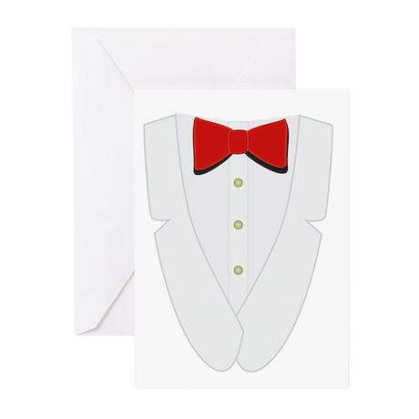 Tuxedo T-Shirt Design Greeting Cards (Pk of 20)