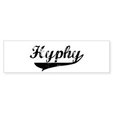 Black Vintage Hyphy Bumper Bumper Sticker