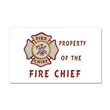 Fire Chief Property Car Magnet 20 x 12