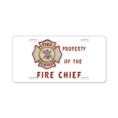 Fire Chief Property Aluminum License Plate