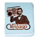 BOOMBOX ABE LINCOLN baby blanket