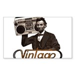 BOOMBOX ABE LINCOLN Sticker (Rectangle 10 pk)