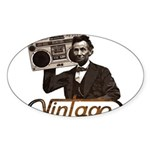 BOOMBOX ABE LINCOLN Sticker (Oval 50 pk)