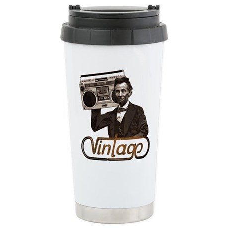 BOOMBOX ABE LINCOLN Stainless Steel Travel Mug