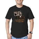 BOOMBOX ABE LINCOLN Men's Fitted T-Shirt (dark)