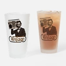 BOOMBOX ABE LINCOLN Drinking Glass