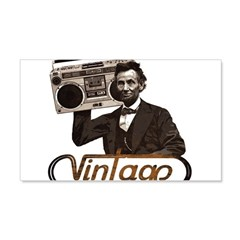 BOOMBOX ABE LINCOLN 22x14 Wall Peel