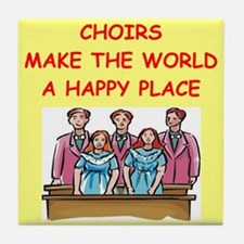 choirs Tile Coaster