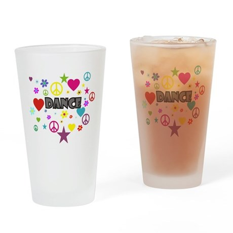 Dance Mixed Graphic Drinking Glass