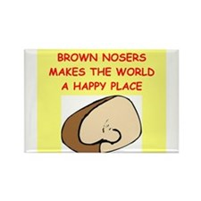 brown nosers Rectangle Magnet (100 pack)
