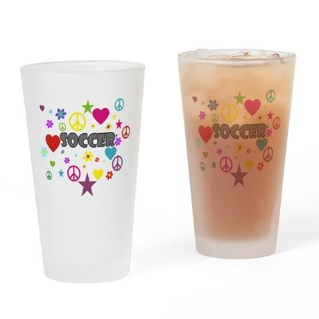 Soccer Mixed Graphic Drinking Glass